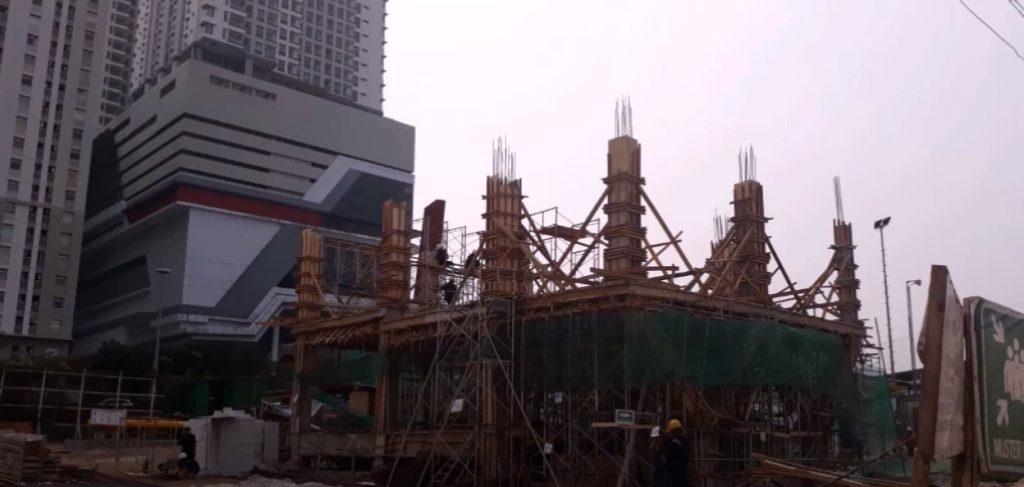 jasa kontraktor di tangerang tampak konstruksi bangunan